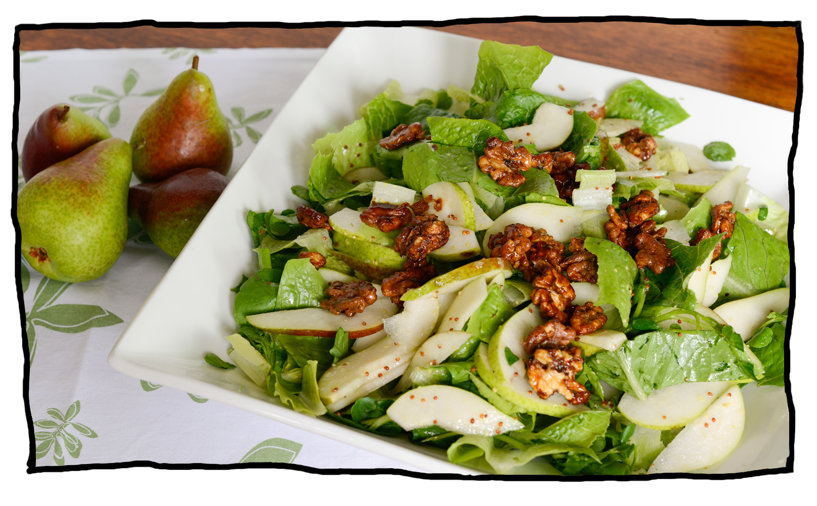 pear and watercress salad
