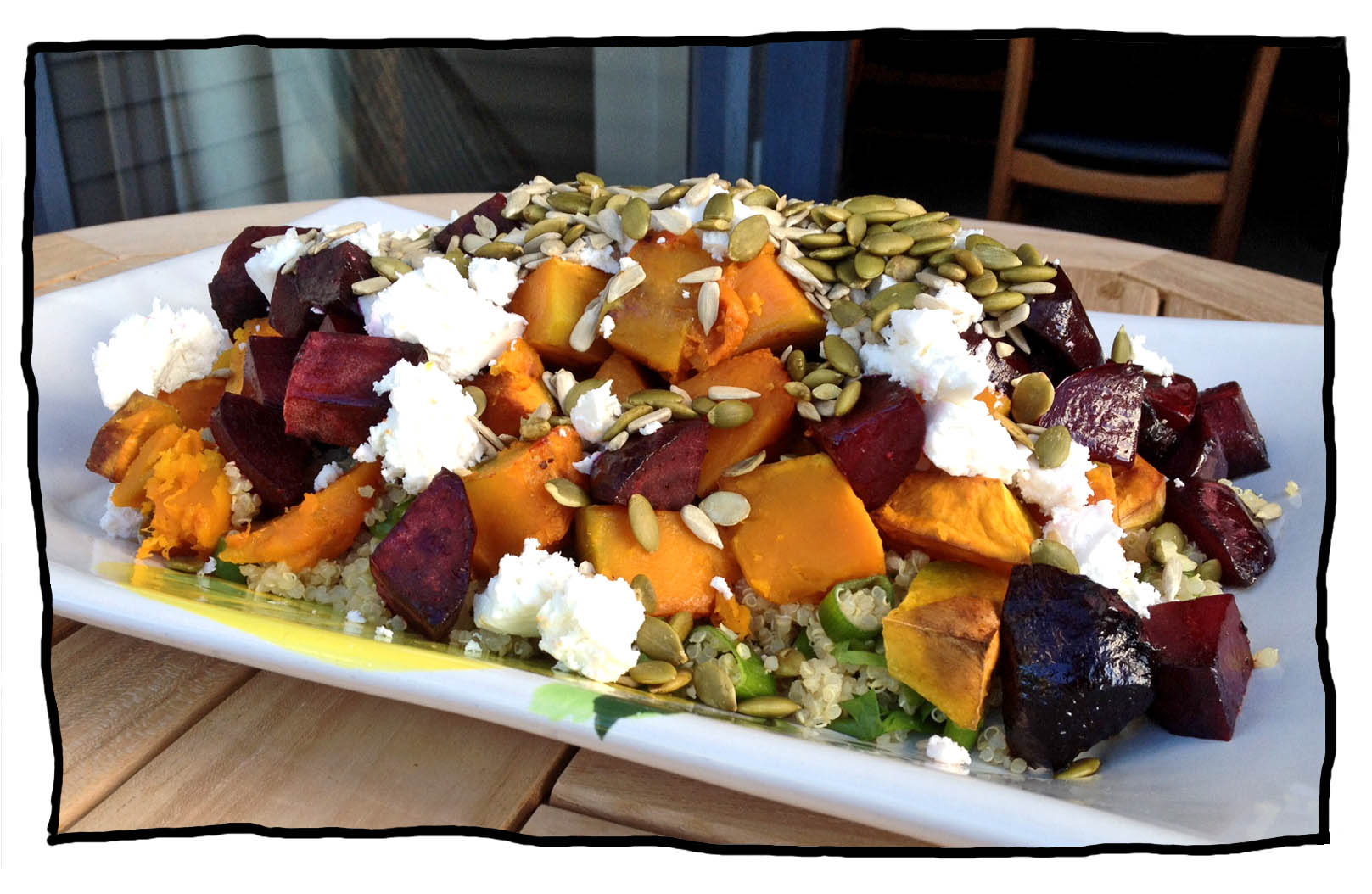 Pumpkin, Beetroot and Quinoa Salad