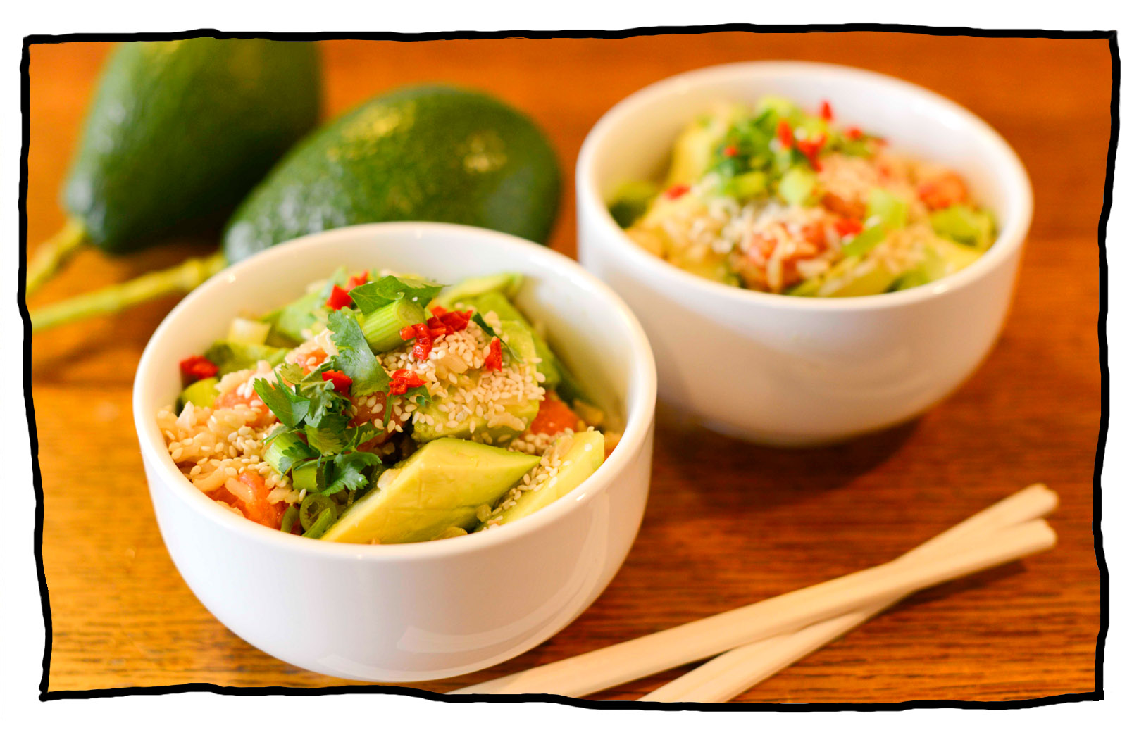 Japanese Salmon and Avocado Rice