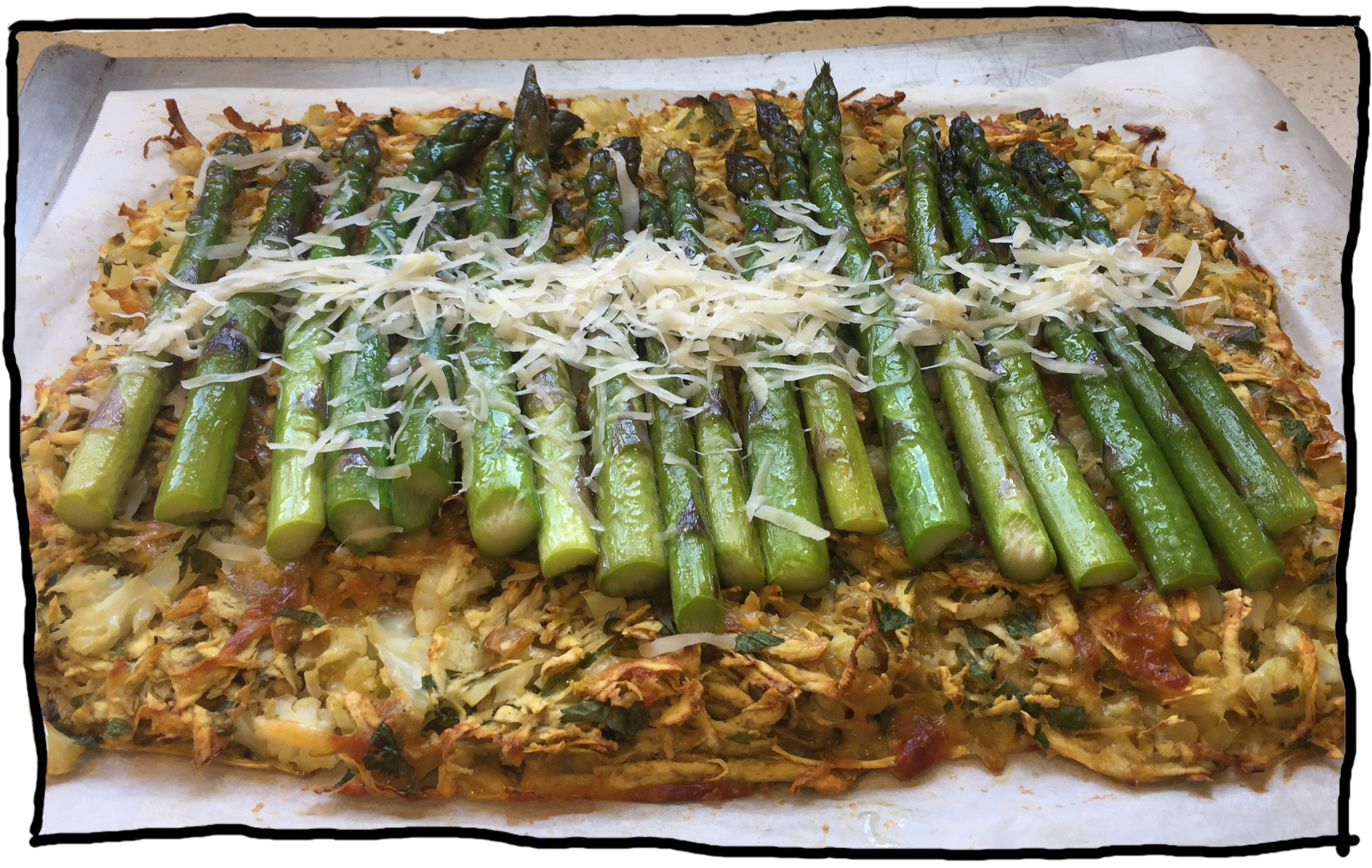 Asparagus and Vege Tart