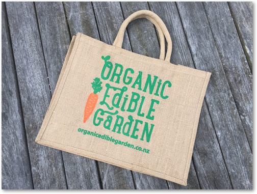Organic Edible Garden Shopping Bag